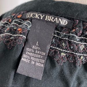 Lucky Brand Tops - Lucky Brand Boho Hippie Embroidered Peasant Blouse